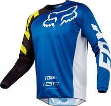 New 2018 FOX Racing MX Motocross 180 RACE Jersey Blue Men's Size Medium