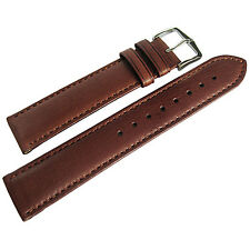 22mm Hirsch Merino Mens Gold Brown Nappa Sheepskin Leather Watch Band Strap