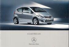 Mercedes-Benz A-Class Specification 2006-07 UK Brochure 150 170 200 160 180 CDi