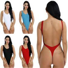 Plus Size Yoga Swimsuit Monokini Thong Leotard High Cut Bikini Backless Bodysuit