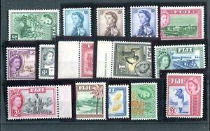 Fiji QEII 1954-59 set of 15  SG280/95 MNH