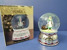 Towle 12 Days of Christmas 8 Maids a Milking Snowdome Snowglobe Snow Globe Nib