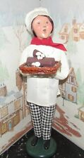 Byers Choice Caroler Woman Chef with Yule Log 2005 *