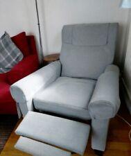 Nice grey blue recliner chair