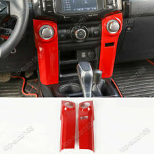 Red Console Air Conditioner Knob Panel Cover Trim For Toyota 4Runner 2010-2020