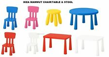 IKEA MAMMUT SERIES Kids Chairs, Stools, Tables, Indoor/Outdoor Colors Choice