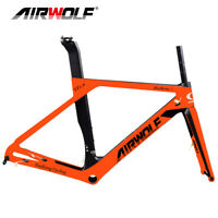 AIRWOLF Road Bike Carbon Frame T1100 Disc Bicycle Frameset 49-56cm Fork Seatpost