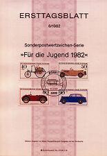"""BRD MiNr 1123-1126 ETB 6-82 """"Jugend 1982"""": Historische Kraftfahrzeuge"""