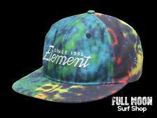 New Element Script Tie Dye Mens Snapback Cap Hat