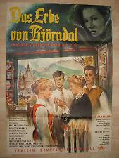 Das Erbe von Björndal  -KINOPLAKAT A1-  Maj-Britt Nilsson Brigitte Horney