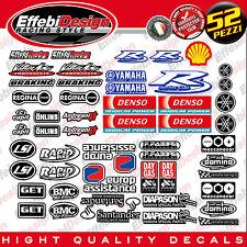 Adesivi/Stickers kit SPONSOR YAMAHA YEC R1 R6 CUP FZ1 FZ6 TMAX SBK 52 PEZZI !