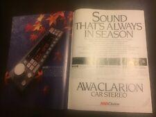 Vintage AWA Clarion Car Stereo Australian Print Advertising 1984 Free Postage
