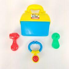 VTG 90s Playskool Baby Toddler First Doctor Bag Nurse Rattle Instruments 1990