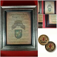 Mc-Better: Socom Coin and Personalized Ranger Creed Framed