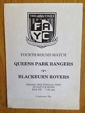 Queens Park Rangers v Blackburn Rovers 1997/98 FA Youth Cup programme