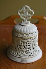 """Wedgwood China 3 1/2"""" 2004 Pierced Bell Ornment Excellent Condition"""