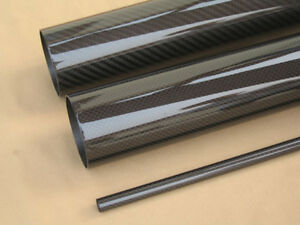OD 44mm x ID 42mm x Length 500mm Carbon Fiber Tube (Roll Wrapped) Glossy pipe