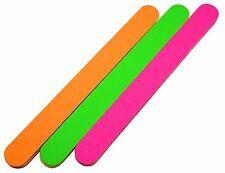 Neon Feilen-Set: 6 x gerade Feile, 2 x Pink, 2 x Grün, 2 x Orange (6 x 100/180 )