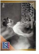Warren Spahn 2019 Topps Update 150 Years of Professional Baseball 5x7 Gold #150-