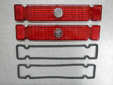 1963 Buick Riviera Tail Light Lenses & Gaskets Pair (2) Emblem Taillight 63 NEW