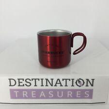 Starbucks Christmas Holiday 2017 RED Metal 3 oz Espresso Cup