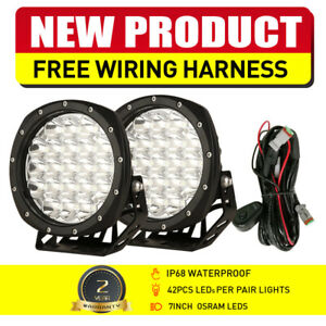 """NEW OSRAM 7"""" LED Driving Lights Spotlights Black Offroad Truck Headlight 12V 24V"""