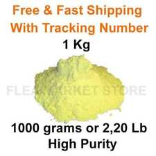FLOWERS OF SULPHUR POWDER 1 Kg SULFUR 1000 grams 2,20lb  HIGH PURITY >99 % Top
