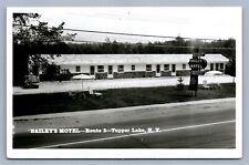 TUPPER LAKE NY BAILEY'S MOTEL VINTAGE REAL PHOTO POSTCARD RPPC