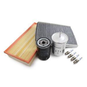 MANN-FILTER Air Oil Cabin Fuel Spark Plugs SetRAPKIT014 fits Audi A3 8L1 1.6
