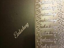 Stickerbogen, Einladung, Silber Nr. 404