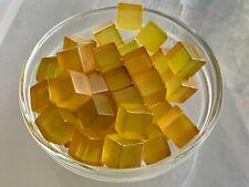 60 Bakelite 13mm Clear Apple Juice Dice Cubes 260g
