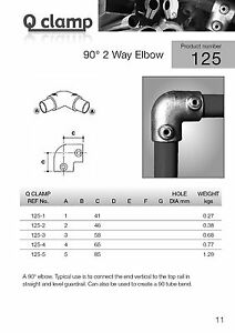Tube Clamp - Q Clamp 125 90° 2 Way Elbow