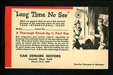 Advertising Vintage postcard Van Demark Motors Accord, NY Auto repair trucking
