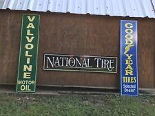 Antique Vintage Old Style National Tires Sign