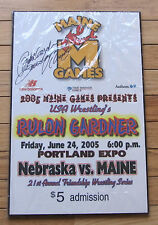Signed Autographed Rulon Gardner Olympic Champ 2005 Maine Games Wrestling Plaque