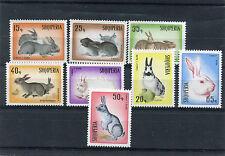 Albania 1967 serie lepri e conigli 1193-00 mnh