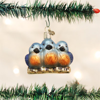 OLD WORLD CHRISTMAS FEATHERED FRIENDS BIRDS GLASS CHRISTMAS ORNAMENT 16060