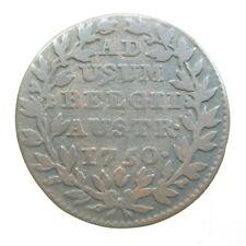 AUSTRIA DUTCH 2 LIARDS 1750 NETHERLANDS COLONY BELGIUM 52# WORLD MONEY COIN