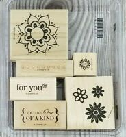 Stampin Up ONE OF A KIND 6pc Set Floral For You Flower