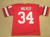 UNSIGNED CUSTOM Sewn Stitched Herschel Walker Red Jersey - M, L, XL, 2XL