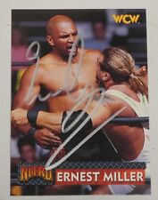 Ernest Miller Signed 1999 WCW Topps Nitro Card #26 WWE Pro Wrestling Autograph