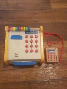 Hape Toys Kids Wooden Checkout Store Cash Register Educational Playset