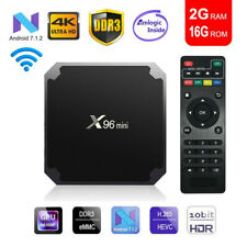 NEW X96 Mini Quad Core 2GB+16GB Android 7.1 TV Box Smart HD Media Player WIFI UK