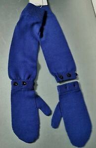 NEW maison martin margiela 32YU004 purple wool long gloves 2 measures detachable