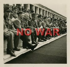 WWII GERMAN WAR PHOTO POLITICAL LEADER DR. ROBERT LAY AT POLITICAL PARADE