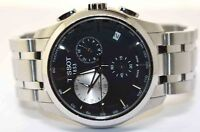 TISSOT COUTURIER BLACK DIAL CHRONOGRAPH MENS WATCH