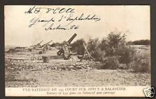 BATTERIE DE 155 COURT sur AFFUT à BALANCIER , 1914-18