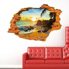 3D Sun Beach Creative Fashion Wall Stickers,Wall Decals AW_EUUS_C