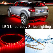 Newest 4x Red LED Strip Under Car Underglow Underbody Neon Light Kit For Jeep