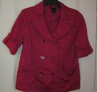 EUC Woman's Size L Short Sleeve  Majenta Jacket Star City
